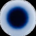 Assiette plate en verre bleu D28cm-AURORE