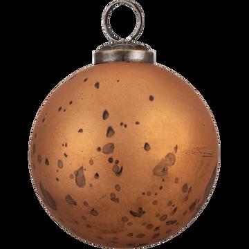 Boule de Noël en verre cuivre D7,5cm-MELILLA