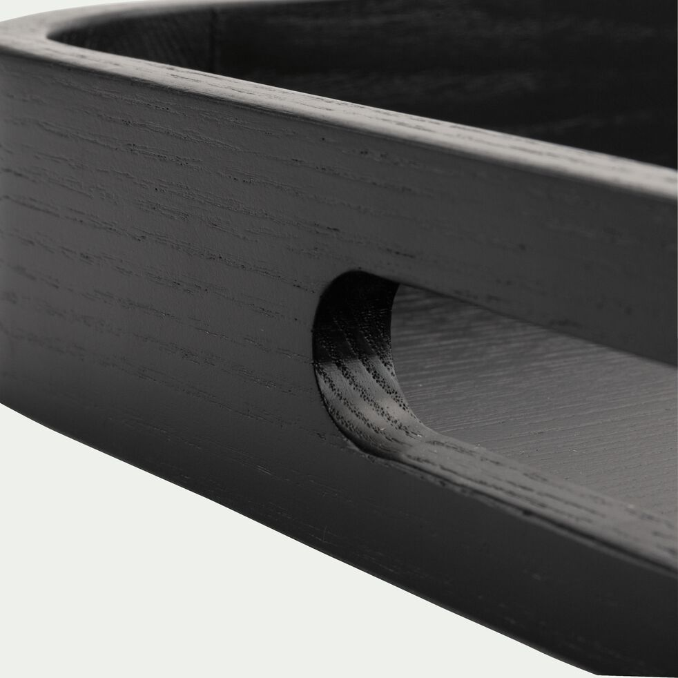 Plateau en bois noir 35,6x50,8cm-VAISON