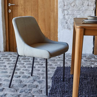 Chaise en tissu - vert olivier-TINOU