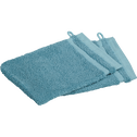Lot de 2 gants en coton à liteau motifs bleu-BULLY