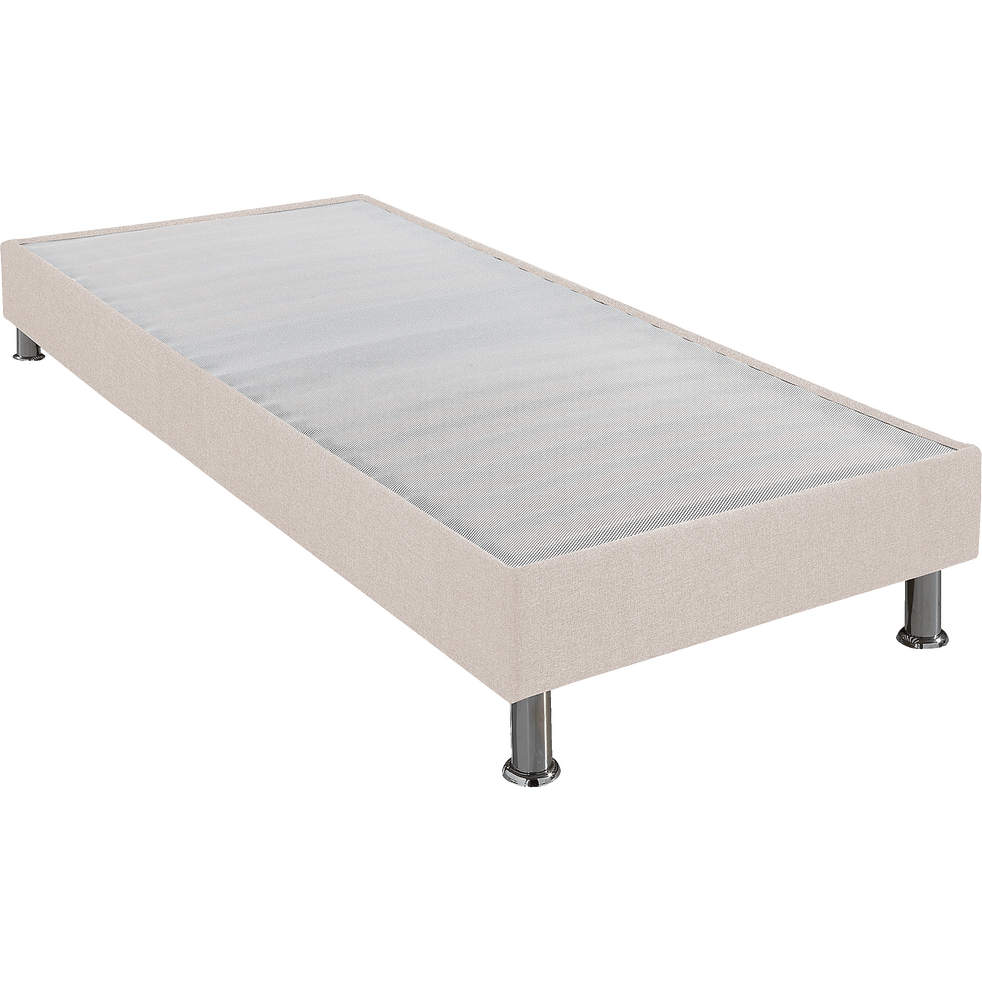 Sommier tapissier Alinéa 15 cm Lin - 90x190 cm-DECOCONFORT