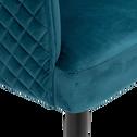 Fauteuil en velours bleu figuerolles-ESTEVE