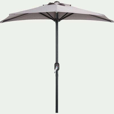 Demi-parasol avec manivelle - gris vésuve (petit modèle)-MONGEDO