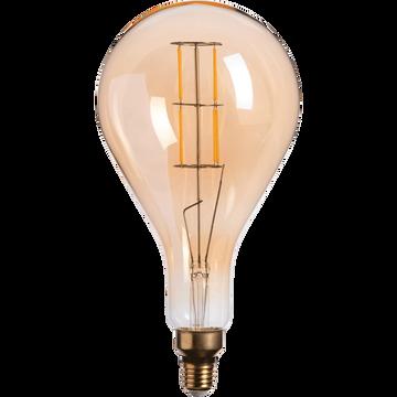 Ampoule LED géante ambre D16cm culot E27-GOUTTE