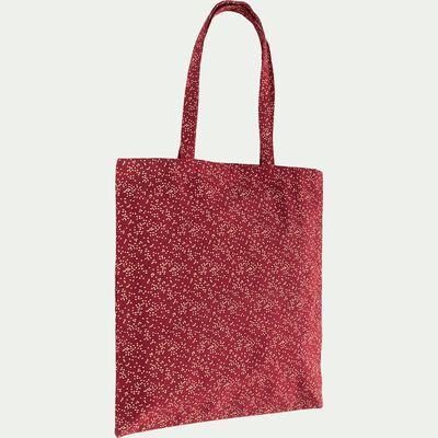 Sac en coton - rouge 38x42cm-GEI