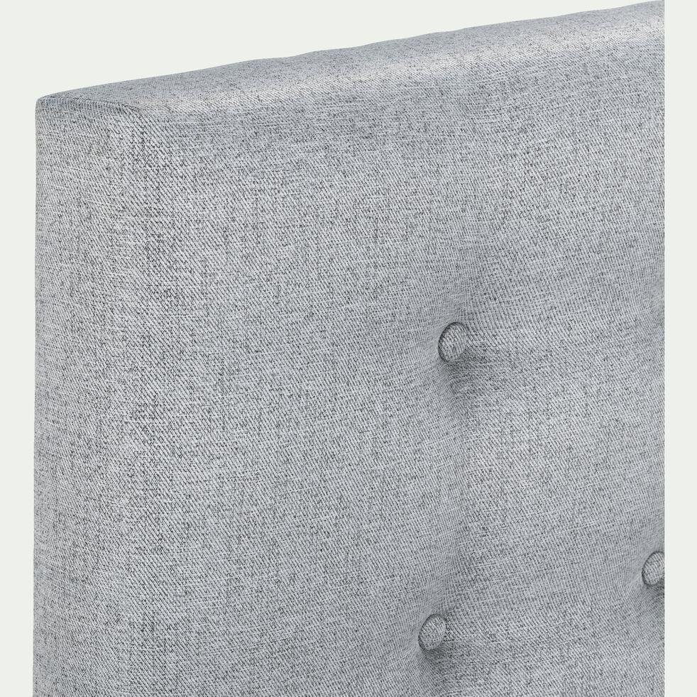Tête de lit boutonnée gris clair 110x190cm-TIBOULEN