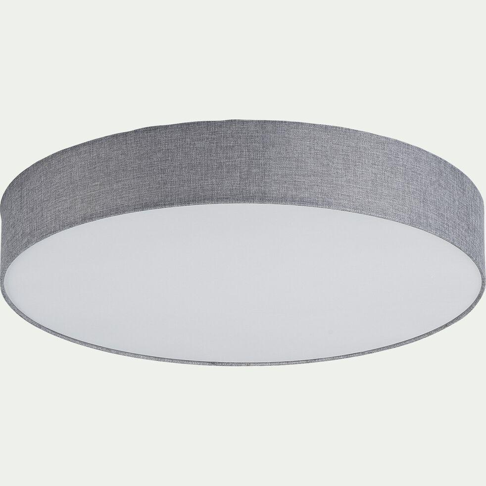 Plafonnier en tissu - D57cm gris-PASTERI