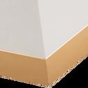 Ensemble de 2 bouts de canapé coloris gris et doré-PORI