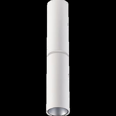 Spot en métal blanc D5xH28cm-GREG