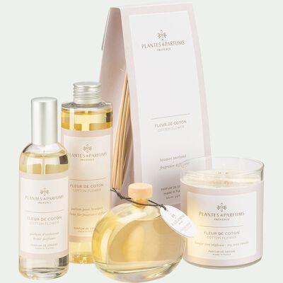 Bougie parfumée senteur Fleur de Coton 180g-FLEUR DE COTON