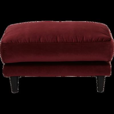 Pouf en velours rouge sumac-LENITA