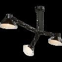 Suspension à 3 bras en métal noir 80x58cm-PEDRO