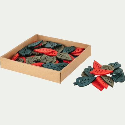 Boite de 20 feuilles déco -  D12xP2,5cm multicolore-SIRICE