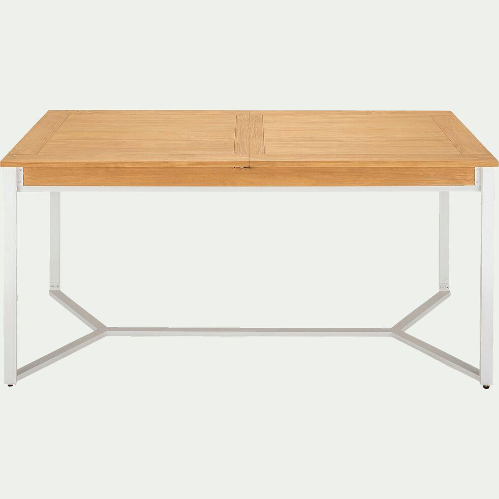 Table De Repas Extensible Plaquee Pin 4 A 8 Places Endoume