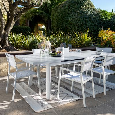 Ensemble table (10 places) et chaise de jardin en aluminium-LORETO