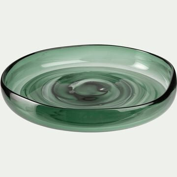 Coupe en verre - vert D30,5cm-LUKA
