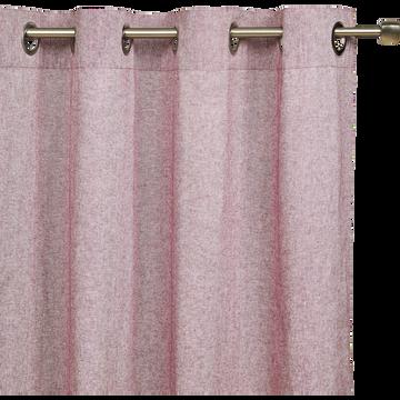 Rideau chambray rouge sumac 140x250cm-CORBIERE