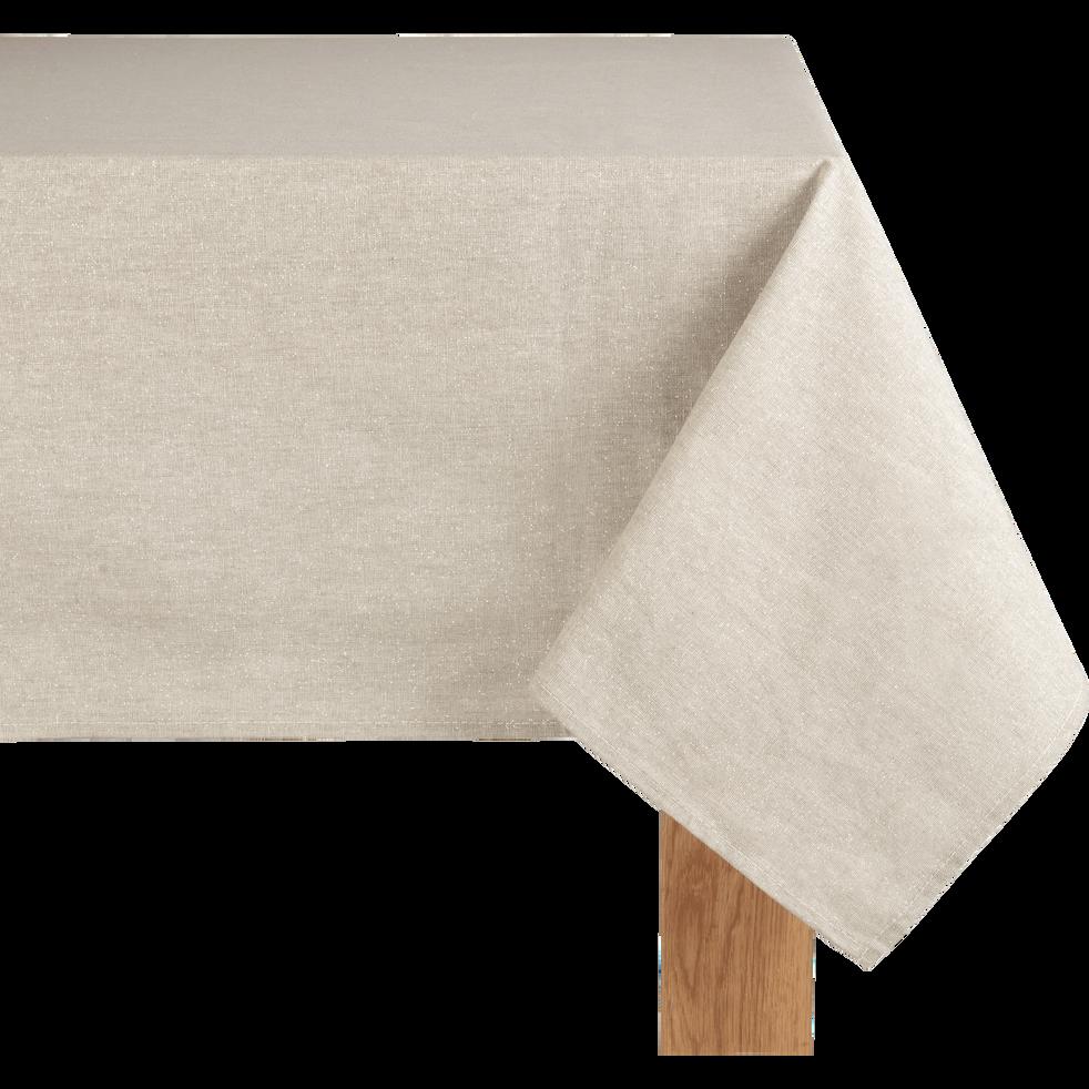 Nappe beige pailleté 140x250cm-GAMRA