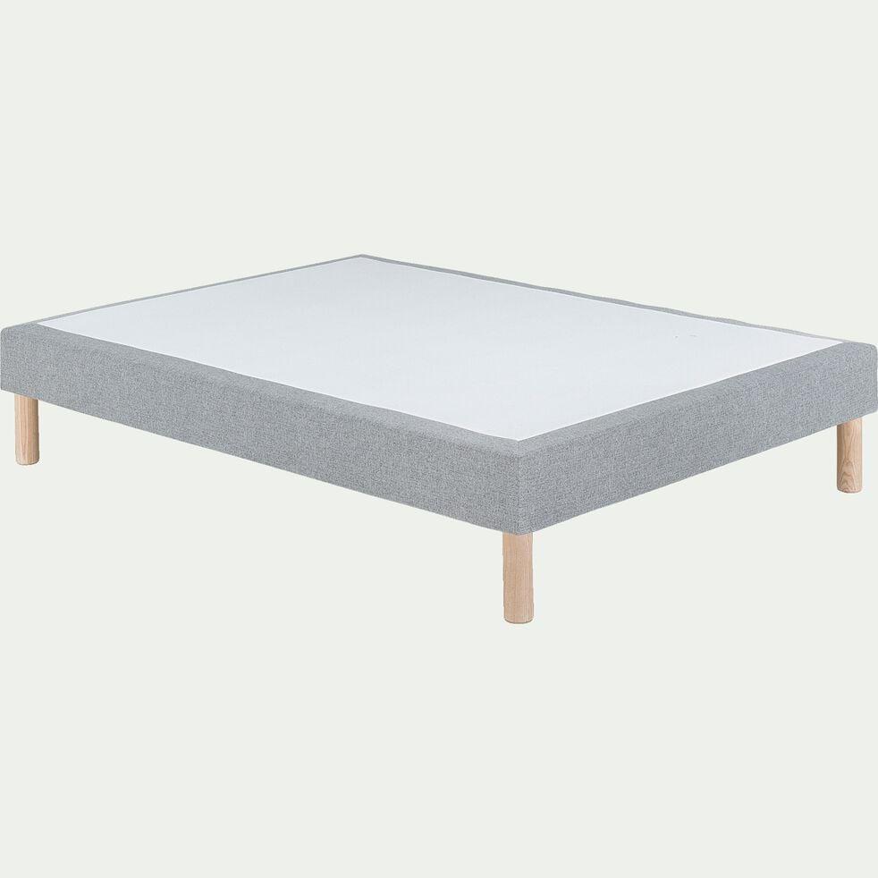 Sommier tapissier 160x200cm gris clair-REDON