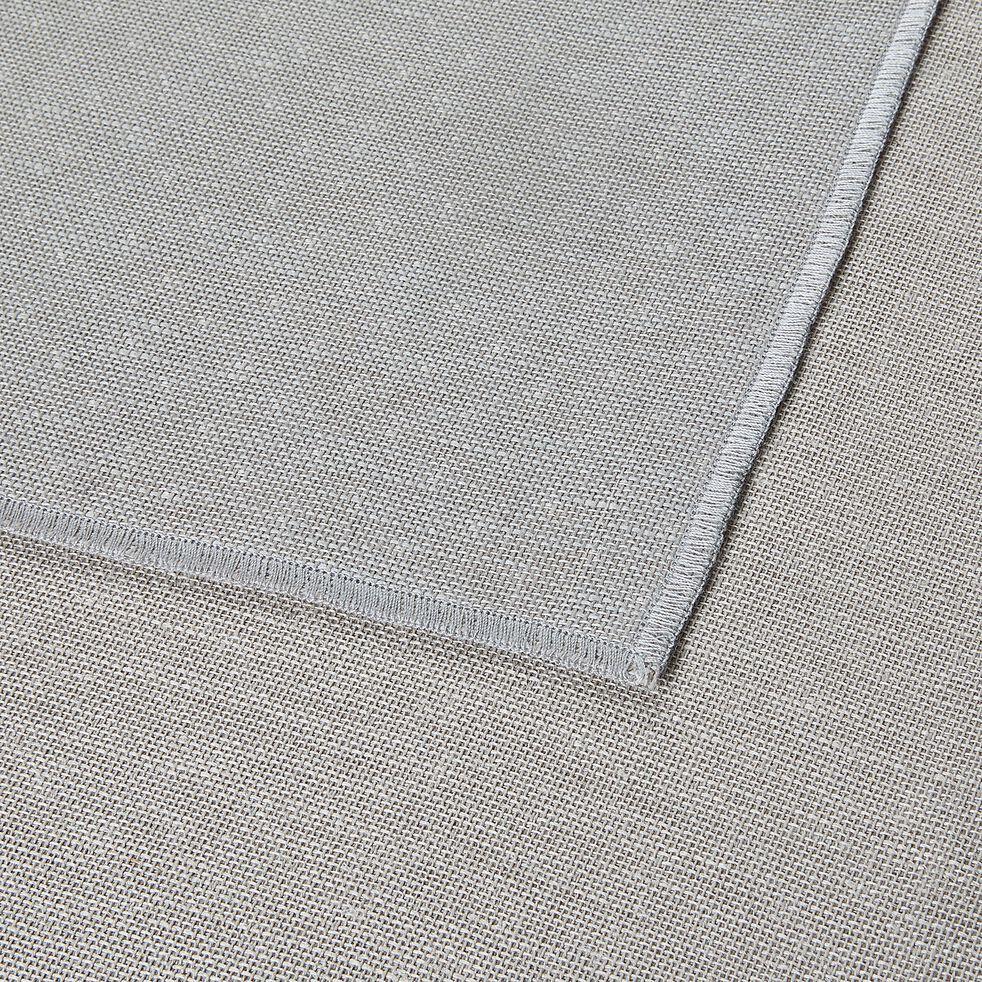 Nappe en lin et coton vert réversible 145x350cm-ALICE