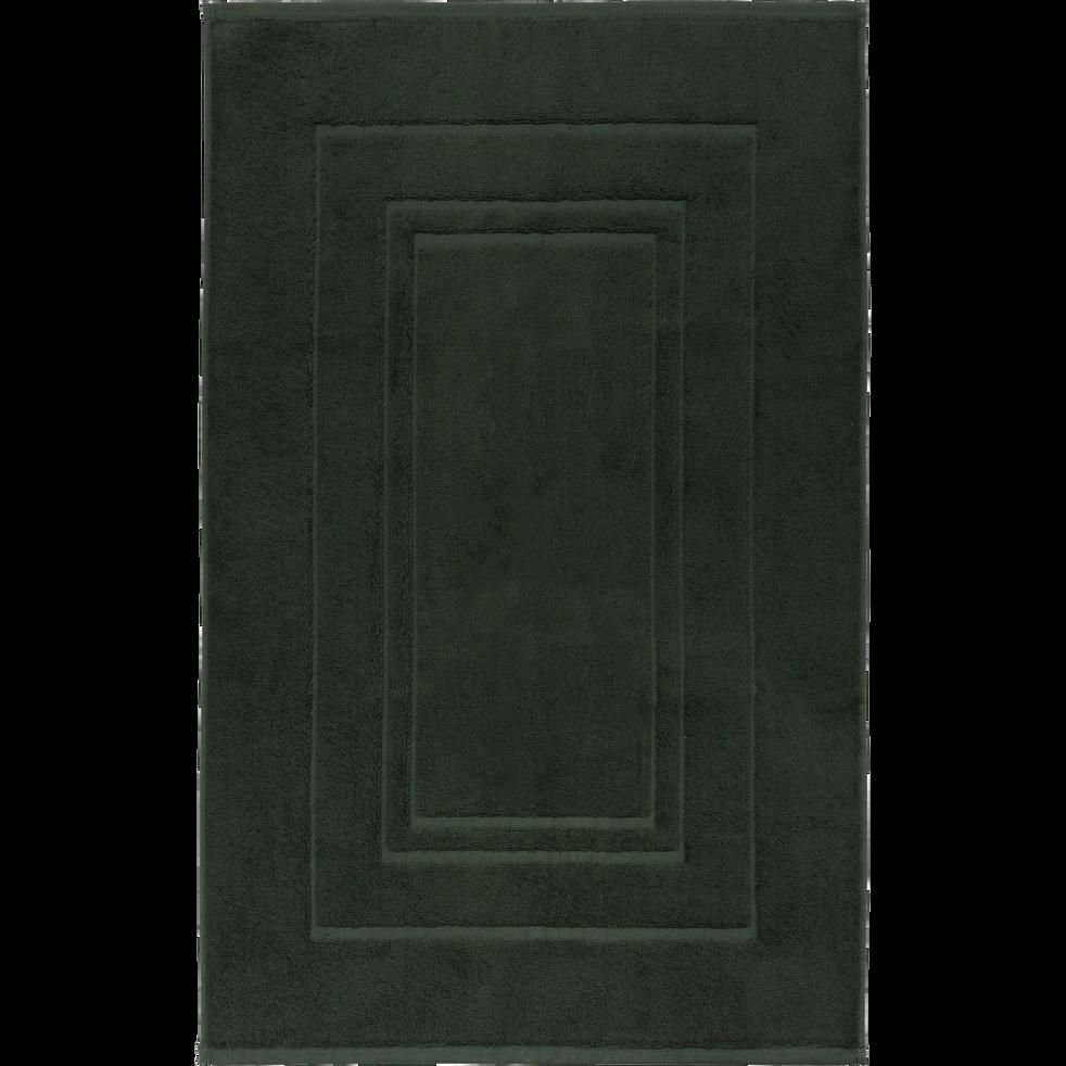 Tapis de bain en coton 50x80cm vert cèdre-AZUR