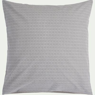 Housse de couette 240x220cm et 2 taies d'oreillers à motifs gris-PIADO
