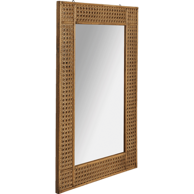 Miroir rectangulaire en cèdre naturel 70x54cm-Hai
