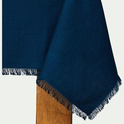 Nappe en lin et coton bleu figuerolles 170x250cm-CASTILLON