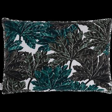 Coussin à imprimé feuillage vert 40x60cm-CORINTHE
