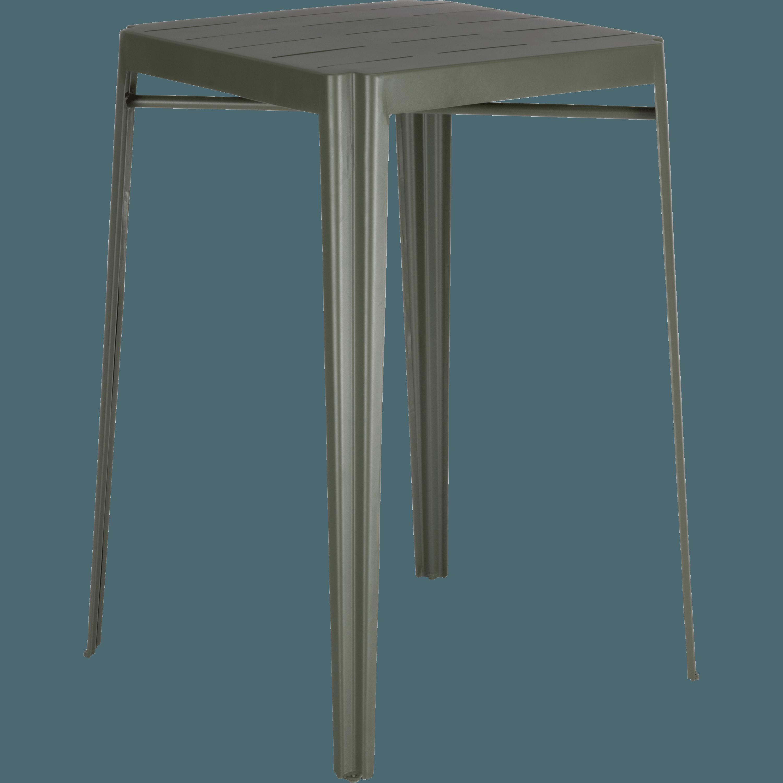 Table Haute Carrée En Métal Vert Cèdre TRIVIA