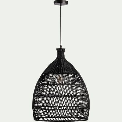 Suspension en rotin noir D49cm-NOAILLES