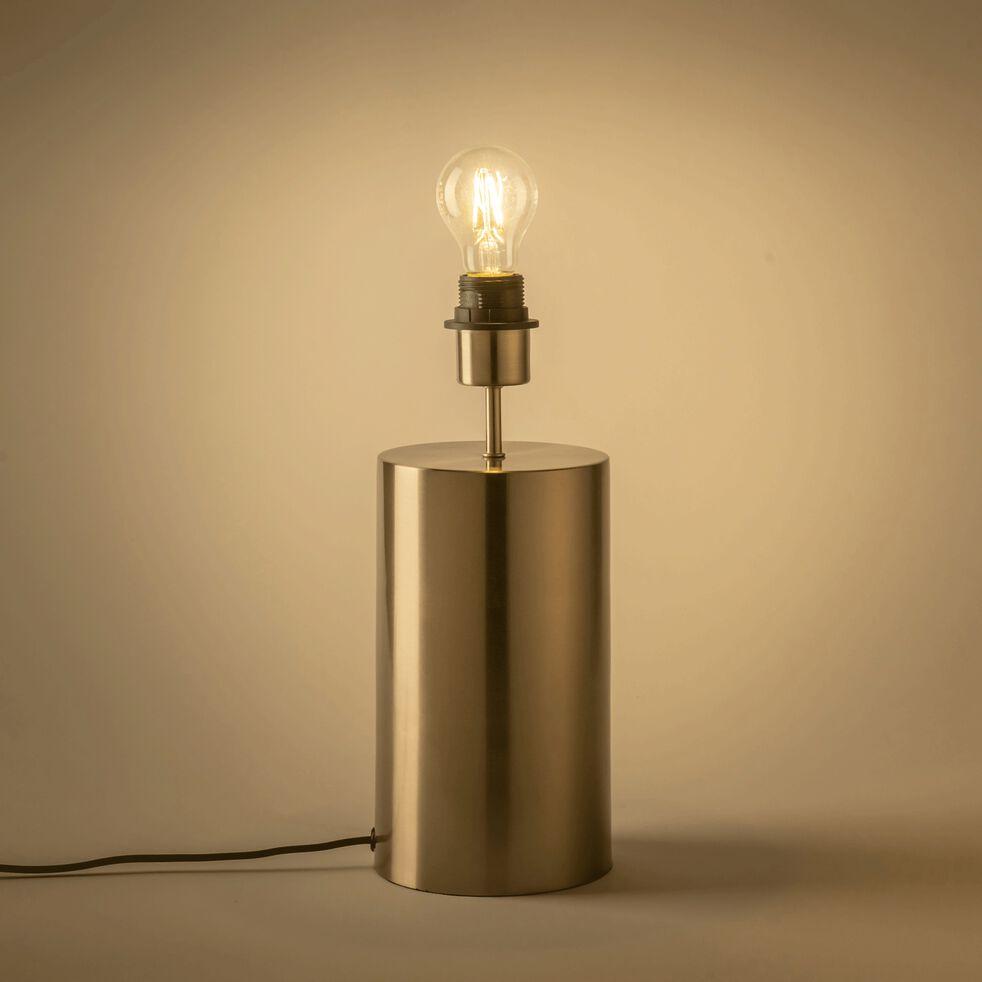 Lampe à poser en acier - D14xH36cm argenté-AGATHA