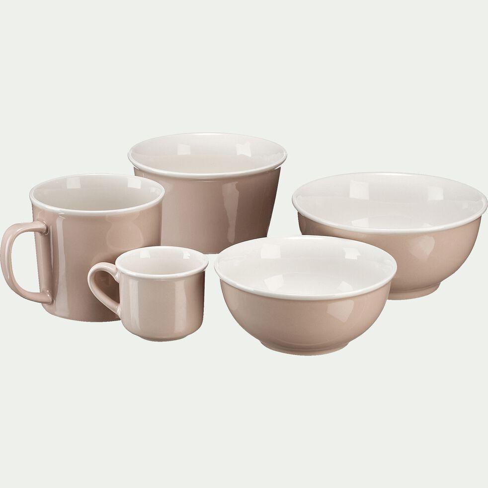 Tasse en porcelaine rose grège 9cl-CAFI