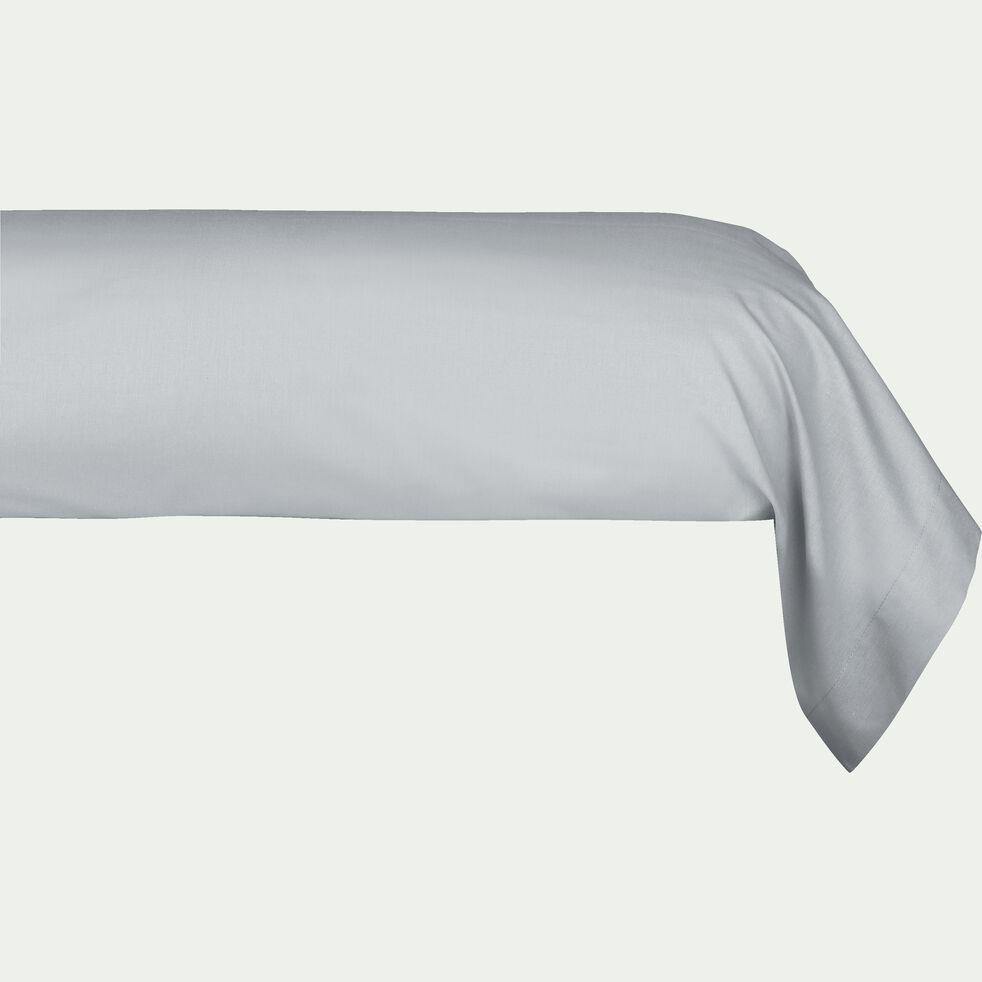 Taie de traversin en coton - gris borie 43x125cm-CALANQUES