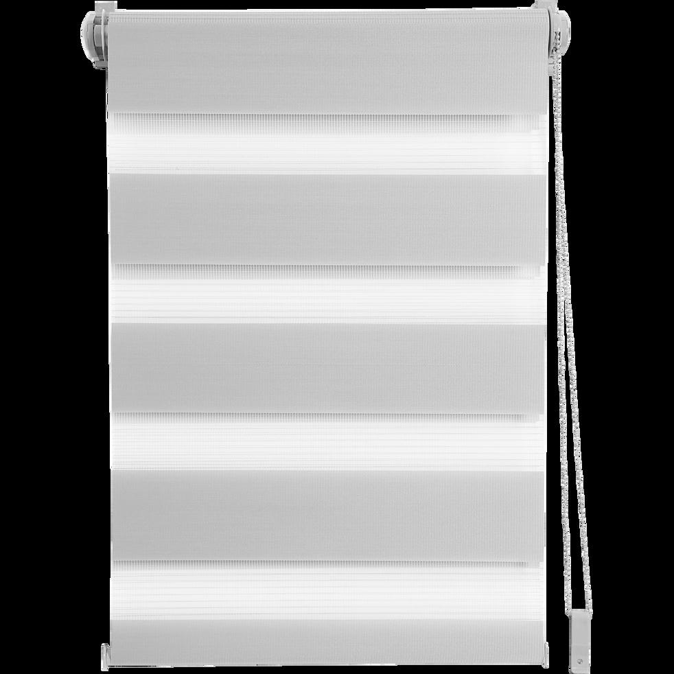 Store enrouleur tamisant gris clair 72x190cm-JOUR-NUIT