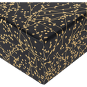 Boîte déco à motif floral doré L20xl16,5xH6,5cm-Ginko