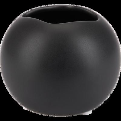 Vase en grès Noir H8 cm-FORIGE