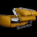 Canapé 3 places convertible en tissu jaune nèfle-SAOU