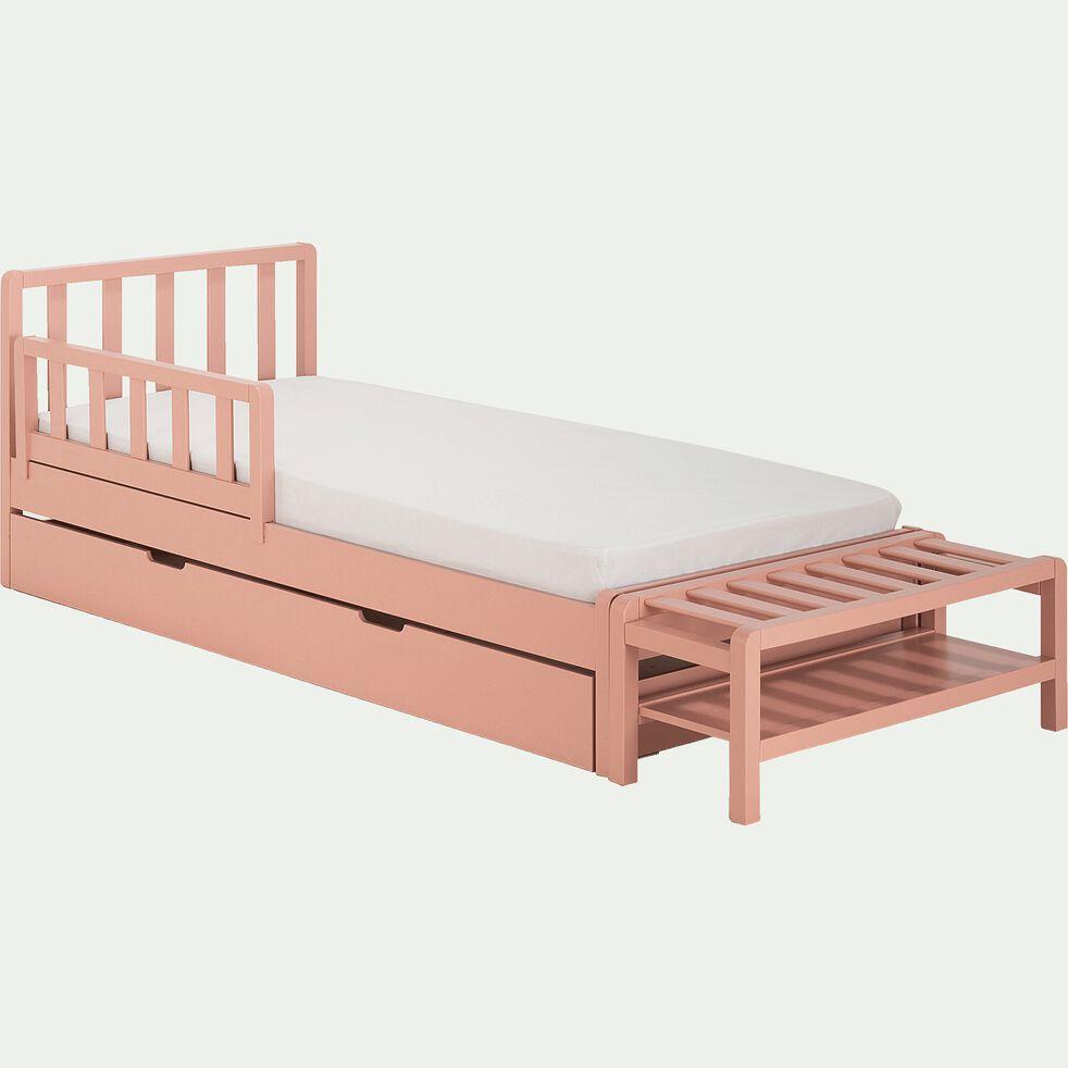 Bout de lit 1 place enfant - rose salina-JAUME