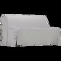 Housse de bz en coton et polyester gris borie 70x140x60cm-PAULINE