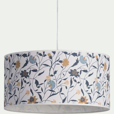 Abat-jour en tissu motif floral D40cm-ASMARA