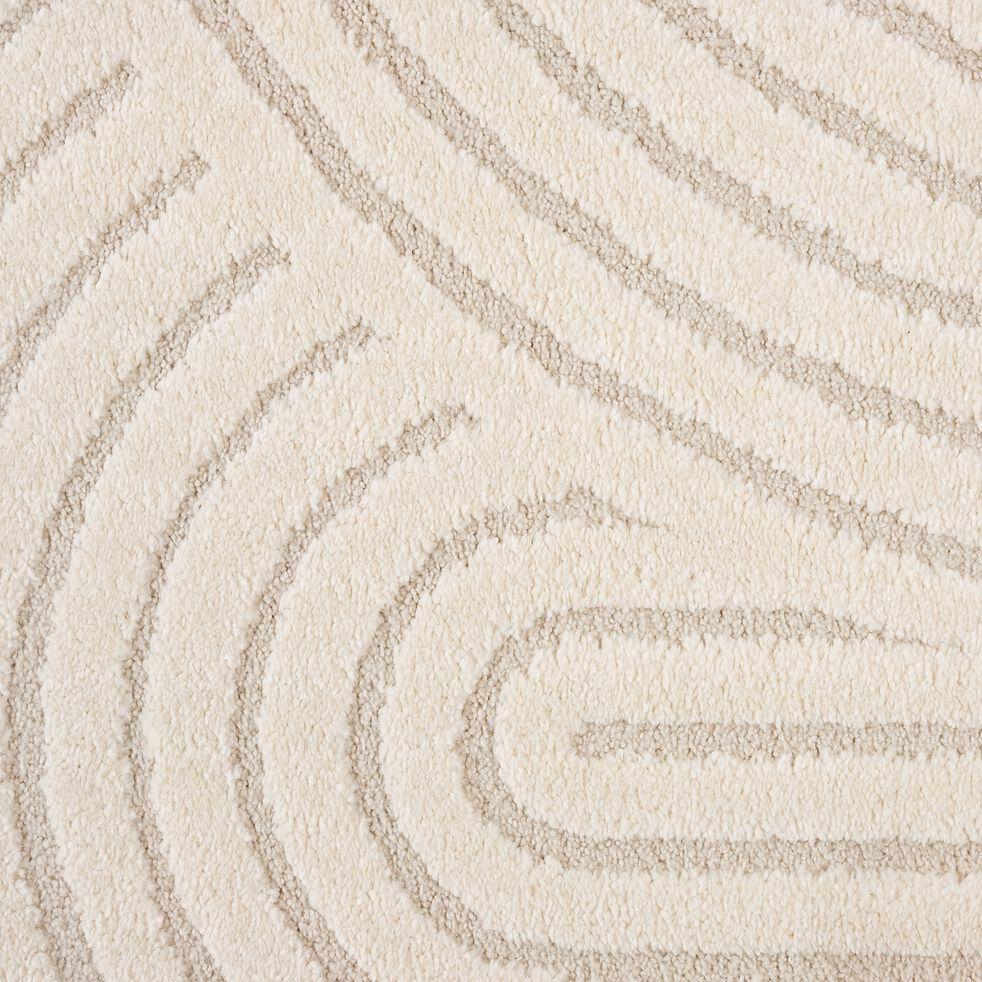 Tapis imitation fourrure à motifs - beige120x170cm-PELA