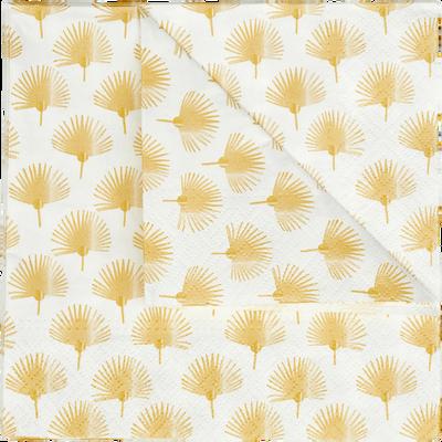 Lot de 20 serviettes en papier décoré 33x33cm-MIDES