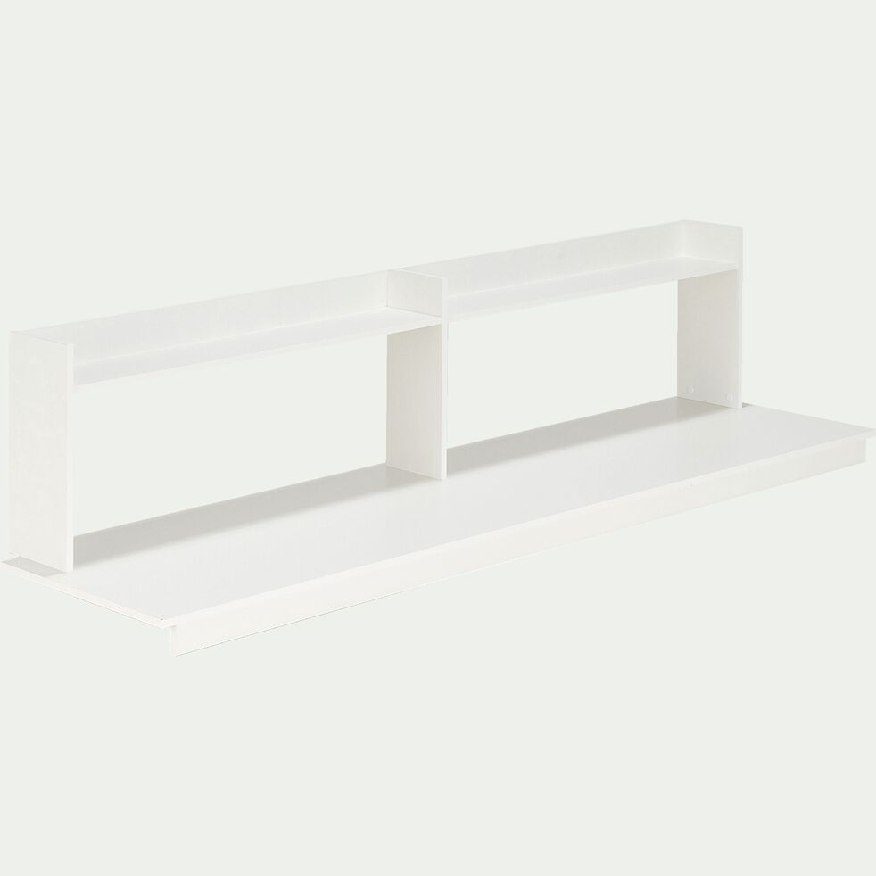 Bureau pour enfant avec étagère en bois blanc-SPIGAOU
