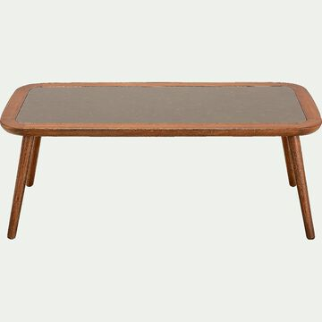 Table basse de jardin en eucalyptus - naturel (L120xl60)-NANS