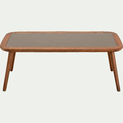 Table basse de jardin en eucalyptus - naturel (120x60)-NANS
