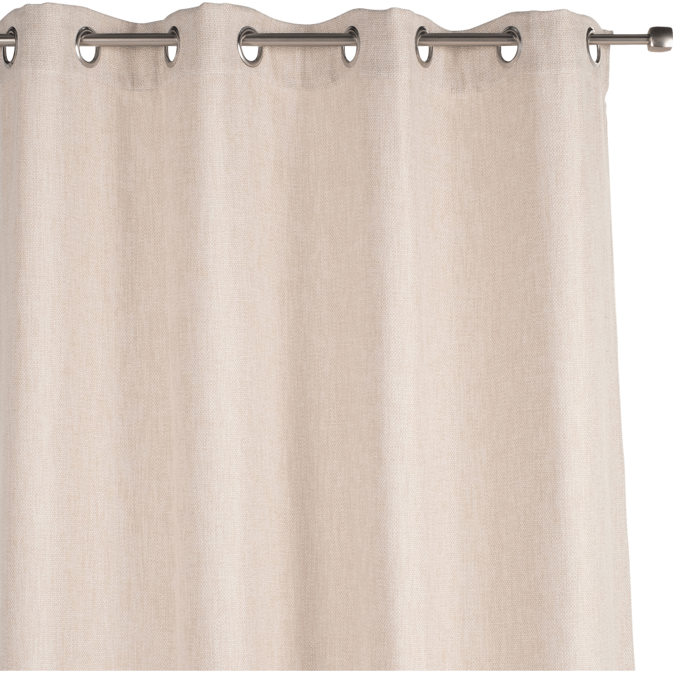 Rideau à oeillets écru 140x250cm-CADOLIVE
