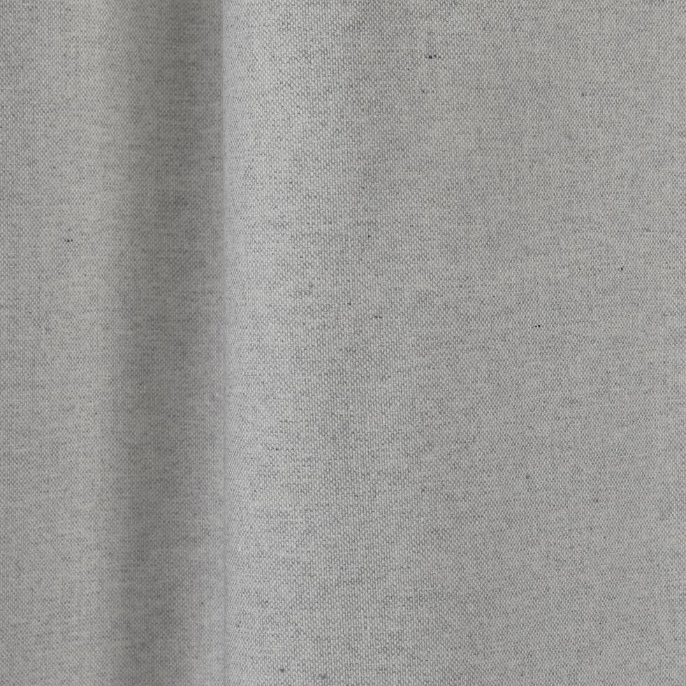 Rideau à œillets en lin et coton - gris borie 140x300cm-CEZE