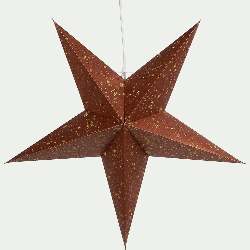 Tapis Salon Couleur Rouille joucas - etoile en papier à suspendre couleur rouille h25cm
